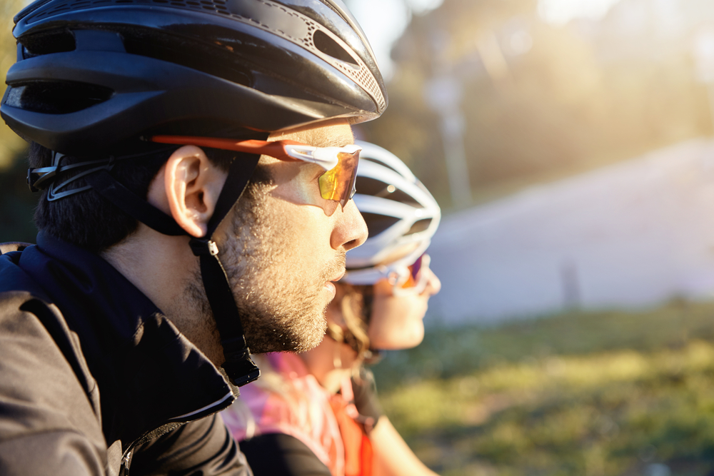 Photo of 2 cyclists, riding to work